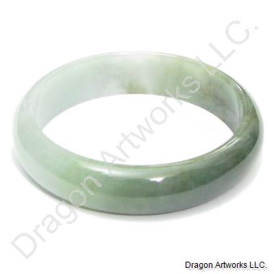 Auspicious Mixed Green Jade Bangle