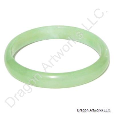 Chinese Green Jade Bangle Bracelet of Rest
