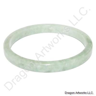 Round Chinese Jade Bangle of Successful Life