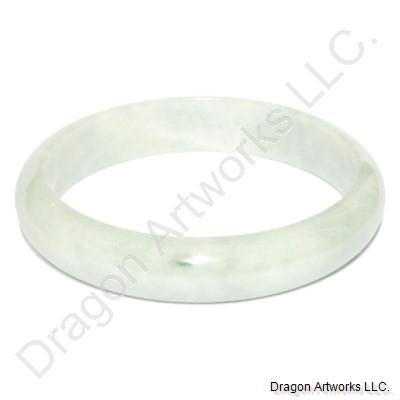 Whitish Green Jade Bangle Bracelet of Youthfulness