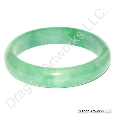 Sparkling Emerald Jade Bangle Bracelet of Life