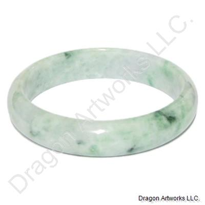 Chinese Green Jade Bangle Bracelet of Courage