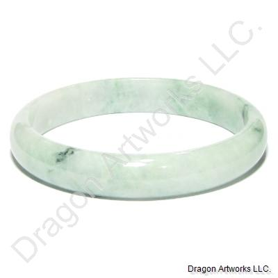 Green Jade Bangle of Charm and Luck
