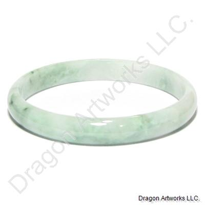 Delicate Light Green Jade Bangle Bracelet