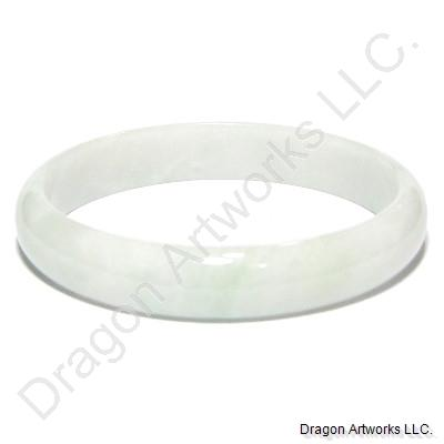 Exemplary Light Green Jade Bangle