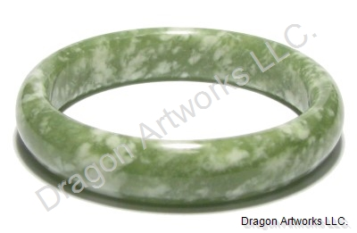 A Miracle of Chinese Green Jade Bangle Bracelet