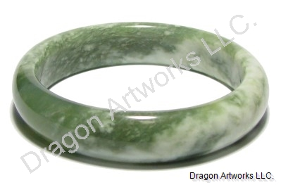 Graceful Green Jade Bangle Bracelet