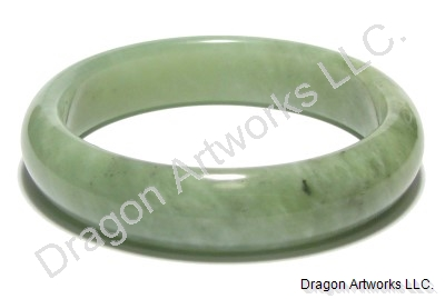 Delighting Green Jade Bangle Bracelet