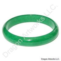 Dark Green Jade Bangle for a Loving Mother
