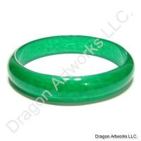 Chinese Jade Bangle Bracelet of Wealth and Luck