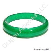 Blessings of Love Dark Green Jade Bangle Bracelet