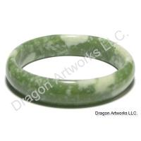Good Fortune of Chinese Green Jade Bangle